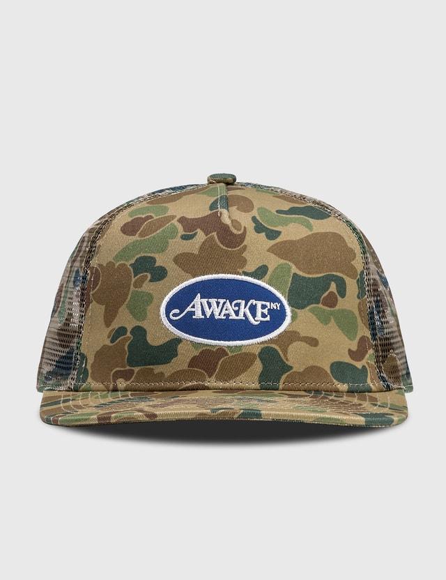 Awake NY Classic Logo Trucker Hat Duck Camo Men