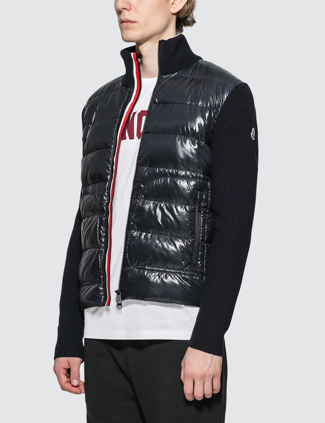 Moncler Stripe Zipped Down Cardigan