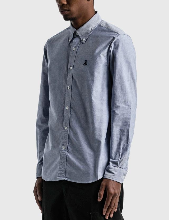 SOPHNET. Paneled Sleeve B.D. Shirt Navy Men