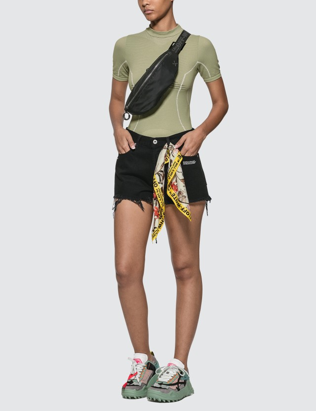 Off-White Twisted Scarf Denim Shorts