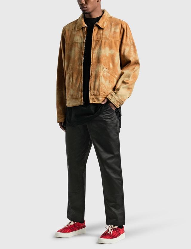 Stussy Shearling Dyed Trucker 재킷 Brown Men