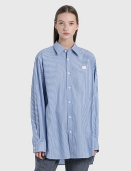 Acne Studios Face Patch Striped Shirt
