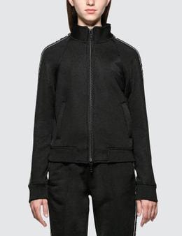 Alexander Wang.T Sleek French Terry Full-Zip Shrunken Track Jacket