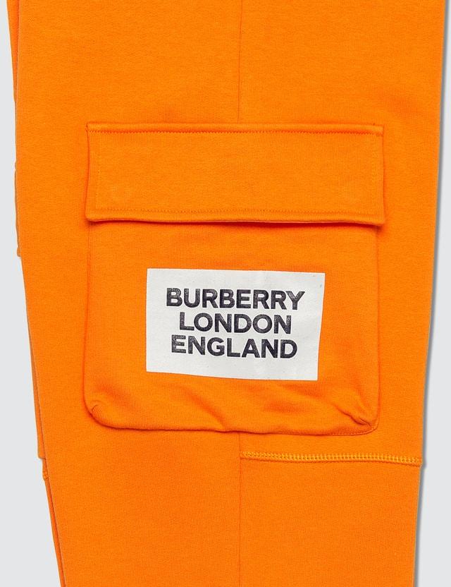 Burberry Logo Print Cotton Trackpants