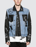 Faith Connexion NTMB Scribble And Patch Leather Jacket Picture
