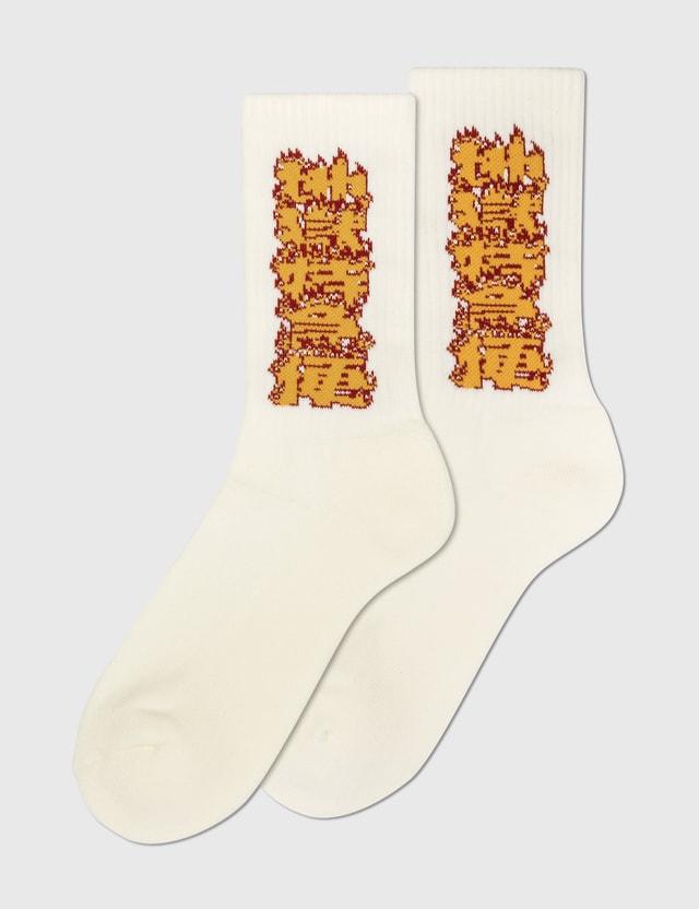 Flagstuff Fire Pattern Socks