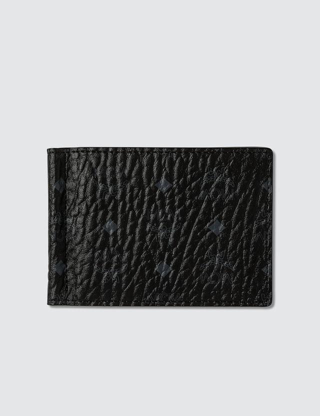 MCM Visetos Original Money Clip Fold Wallet