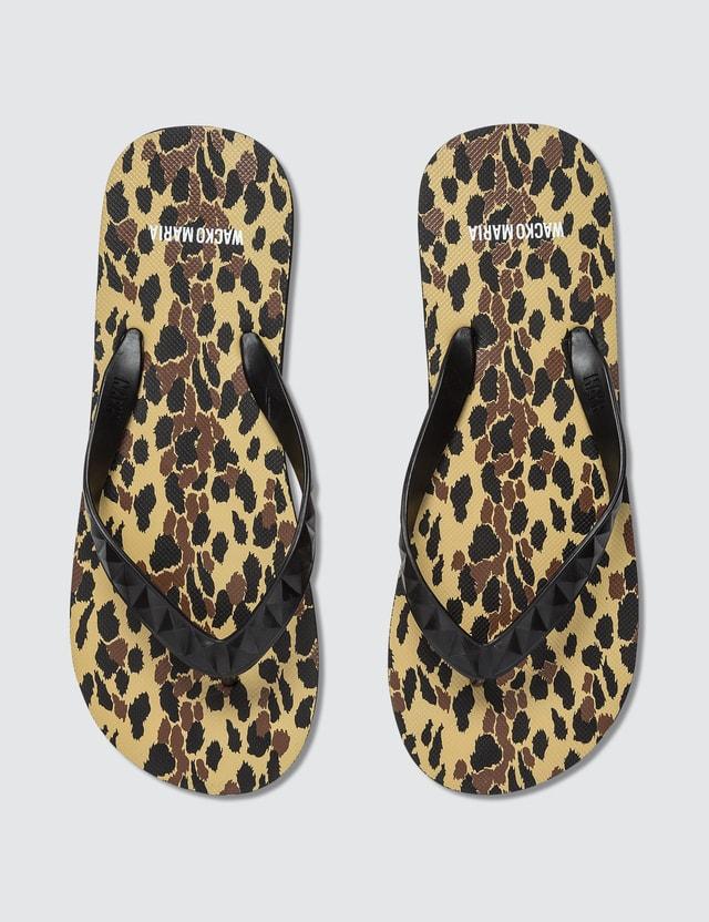 Wacko Maria Animal Print Flip flop Sandals