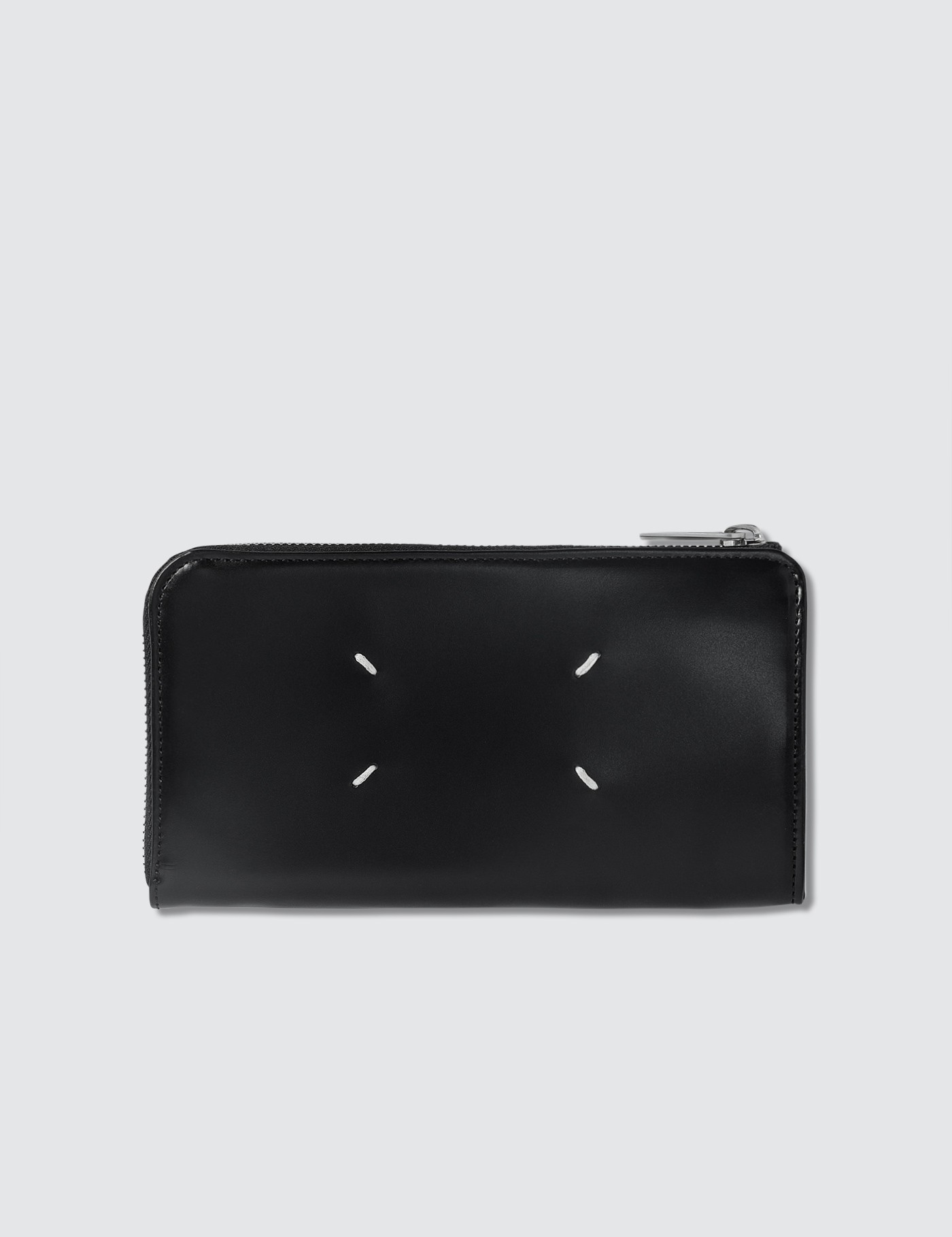 Smooth Leather Zip Around Long Wallet
