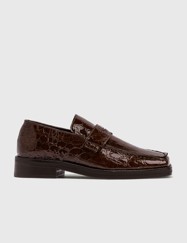 Martine Rose Croco Embossed Loafer Brown Women