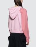 JW Anderson Contrast Sleeve Hoodie Pink Women