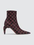 Misbhv Monogram Leather Ankle Boots