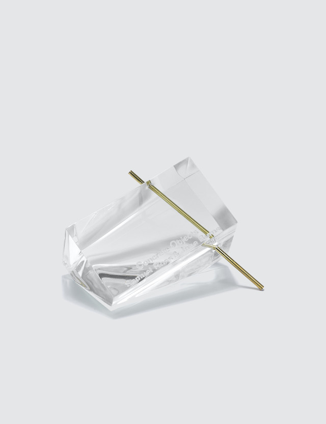 Concrete Objects. Clear Polygon Incense Burner
