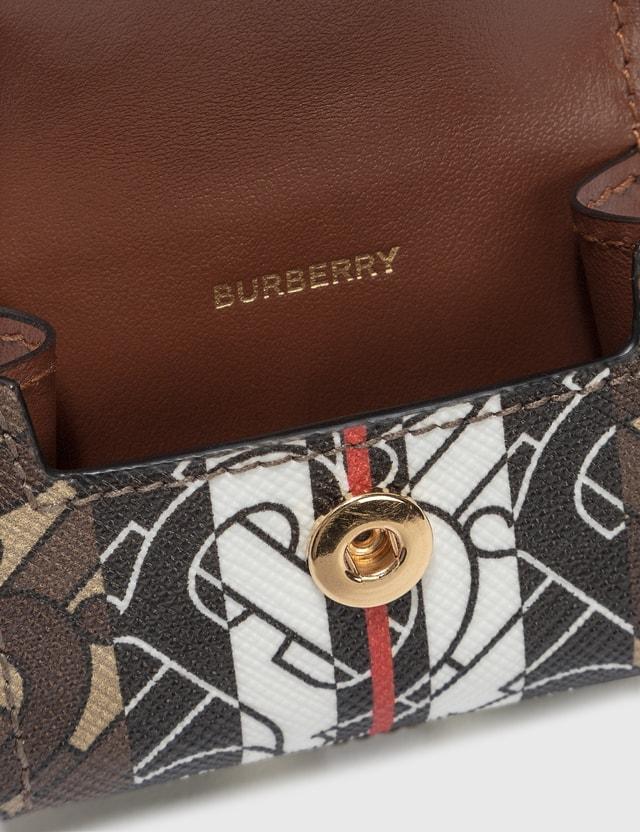 Burberry Monogram Stripe E-canvas AirPods Pro Case Bridle Brown Women