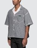 Prada Stencil Stripe Poplin Bowling Shirt