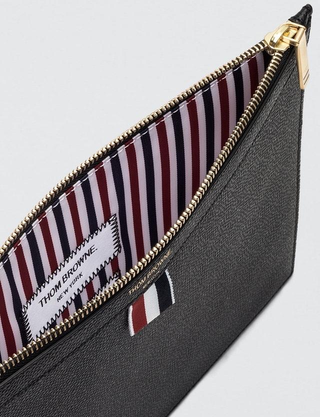 f4398a81949 Thom Browne Medium Zipper Document Holder (A4) 35x25cm In Pebble Grain