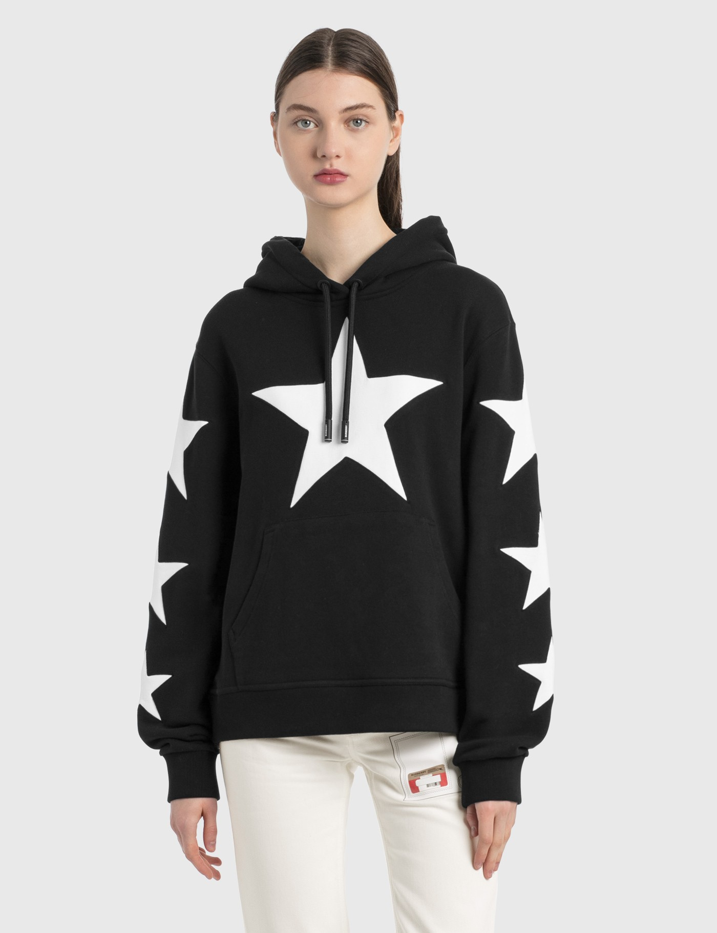 Star Motif Cotton Oversized Hoodie
