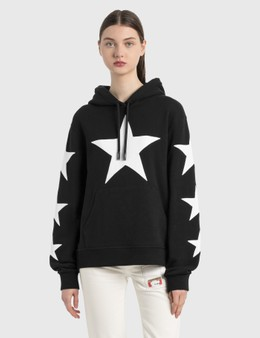 Burberry Star Motif Cotton Oversized Hoodie