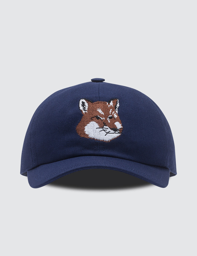 Maison Kitsune 6P Large Fox Head Embroidery Cap