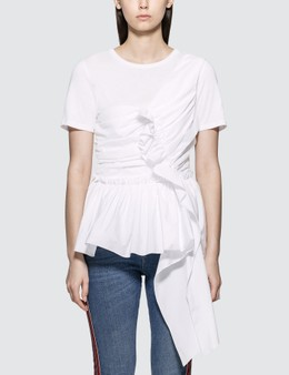 Alexander McQueen Deconstructed Peplum T-shirt