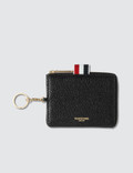 Thom Browne Rectangular Zip Coin Pouch Picutre