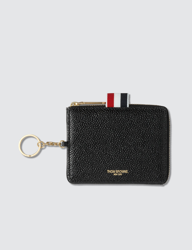 Thom Browne Rectangular Zip Coin Pouch