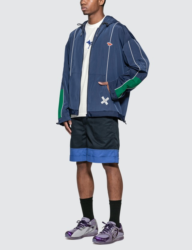 Maison Kitsune Ader Error x Maison Kitsune Tetris Fox Zip-Up Jacket