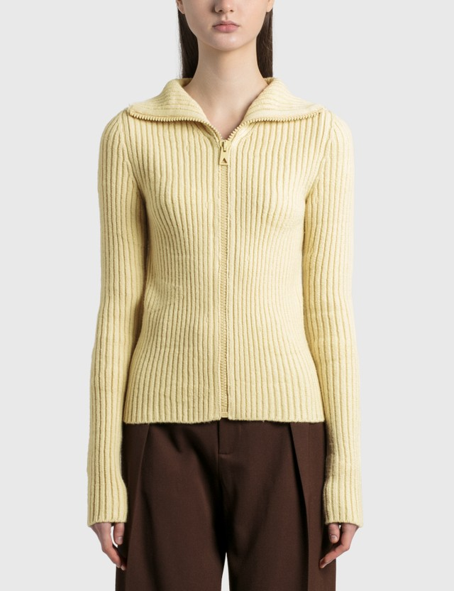 Bottega Veneta Mid Gauge Rib Cardigan Butter Women