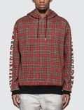 Mastermind World Sleeve Logo Print Tartan Check Hoodie Picture