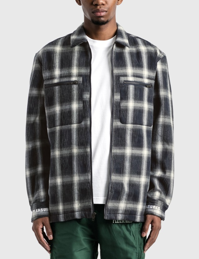 Pleasures Sabbath Plaid Zip Overshirt