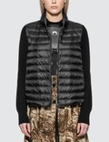 Moncler Down Jacket With Knitted Sleeves Picutre