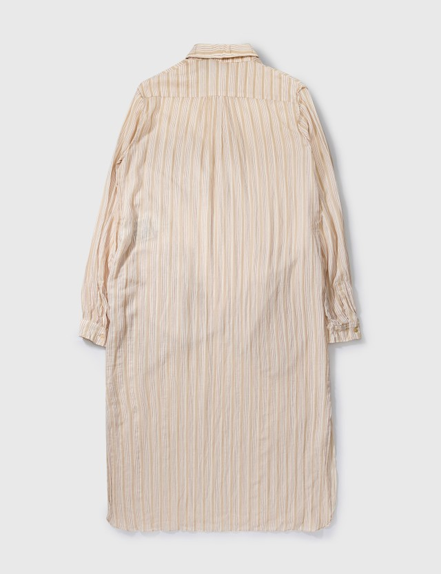 Loewe Paula Stripe Long Shirt Beige Archives