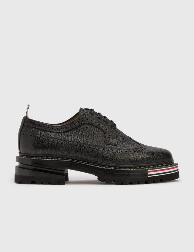 Thom Browne Longwing Brogue On Hiking Sole Black Men