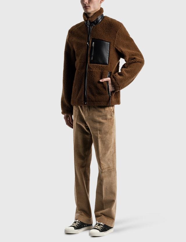 Loewe Shearling Jacket Camel/black Men