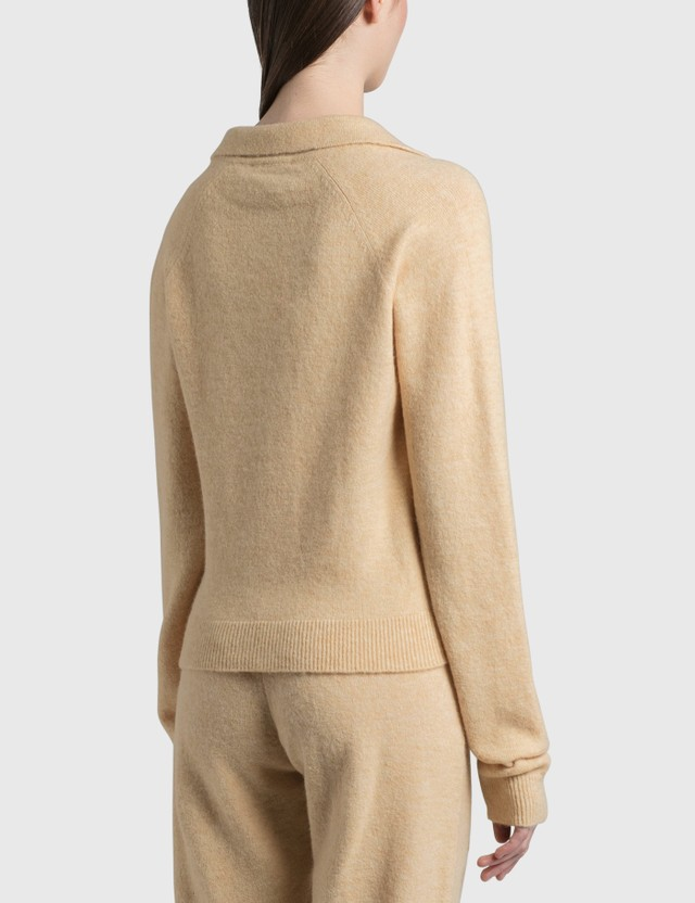 Nanushka Cade Fluffy Knit Cardigan CrÈme Women
