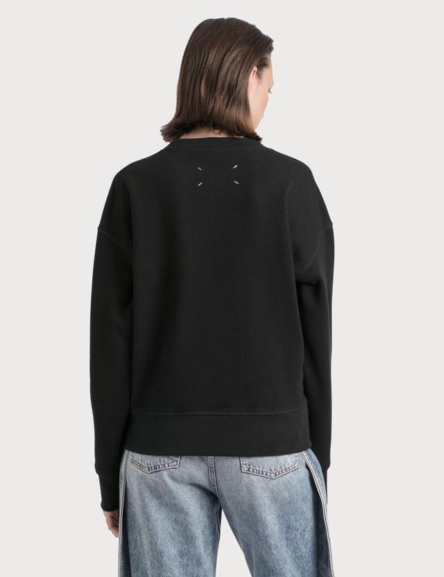 Maison Margiela Paint Effect Logo Sweatshirt