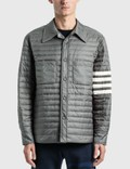 Thom Browne Fine Quilt Down Fill 4 Bar Shirt Jacket Picture