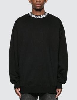 Acne Studios Face Motif Mock Neck Sweatshirt