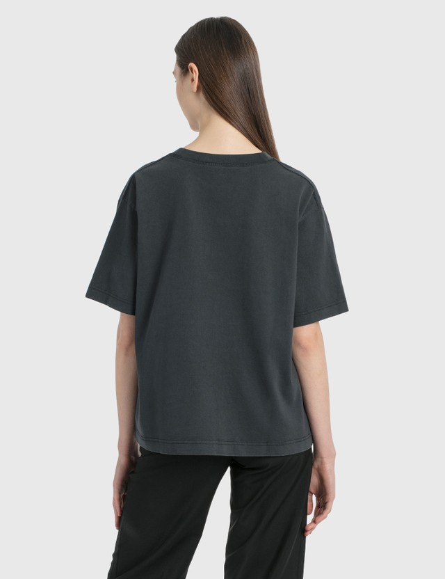 Acne Studios Logo Print T-Shirt Black Women