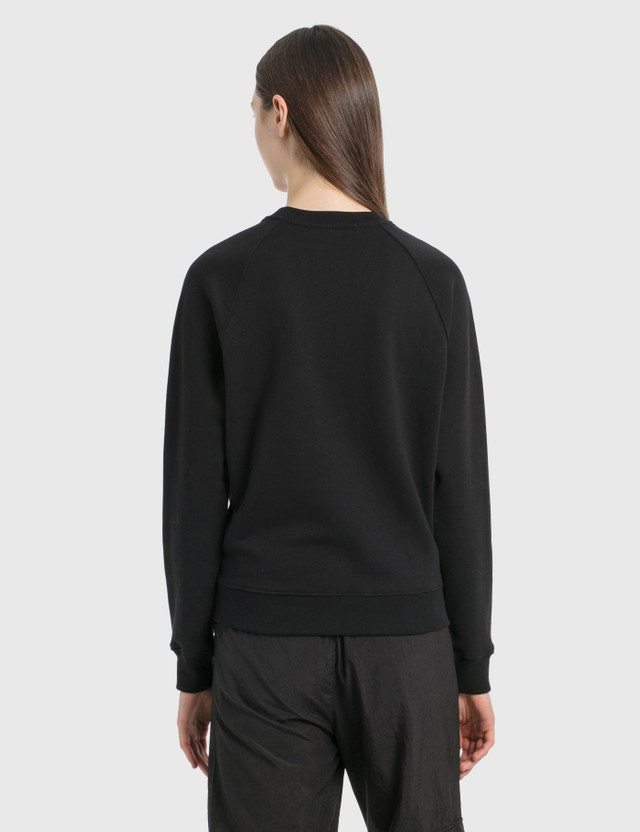MSGM Brush Logo Sweatshirt Black Women