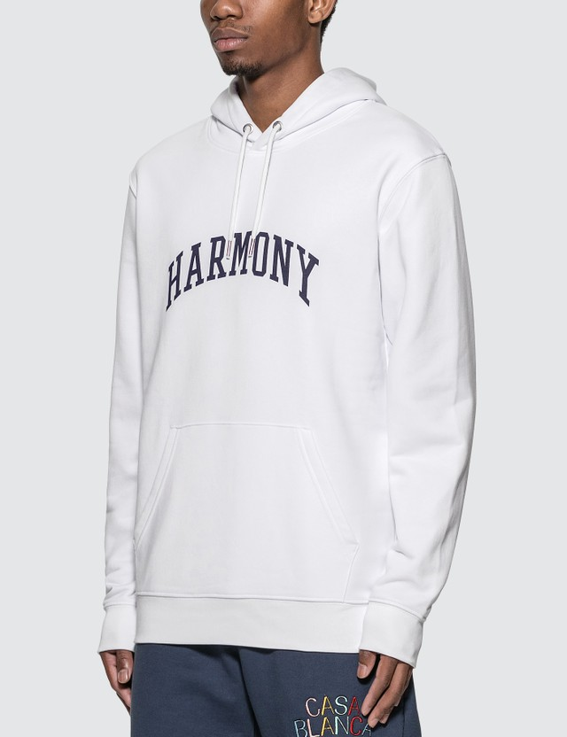 Harmony 칼리지 로고 후디 004 White Men