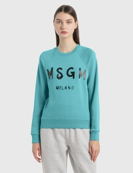 MSGM Brush Logo Sweatshirt