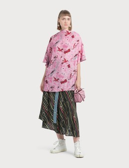 Loewe Paula Skirt With Denim Flags
