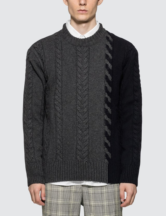 Maison Kitsune Cable Knit Pullover