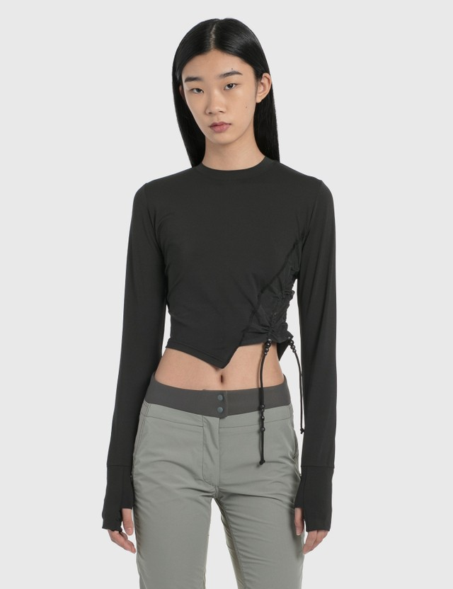 Hyein Seo Twisted Long Sleeve Top Black Women