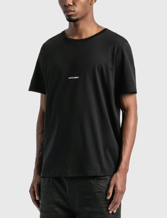 Saint Laurent Saint Laurent Logo T-Shirt Noir Men