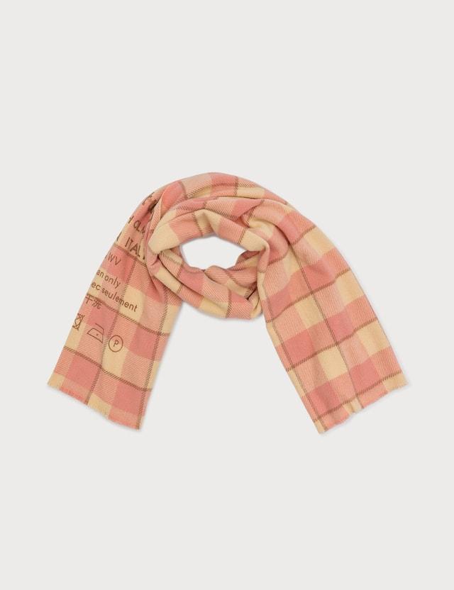 Acne Studios Checked logo scarf