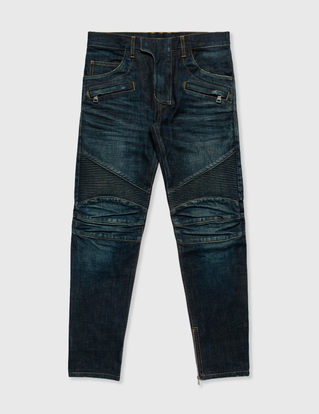Balmain Balmain Biker Jeans Black Archives