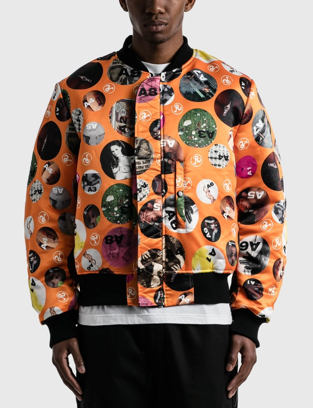Richardson Richardson Magazine Reversible MA-1 Jacket Black/orange Men
