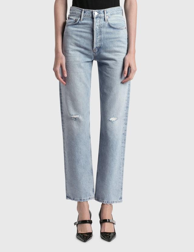 AGOLDE 90's Pinch Waist Straight Jeans Blue Women